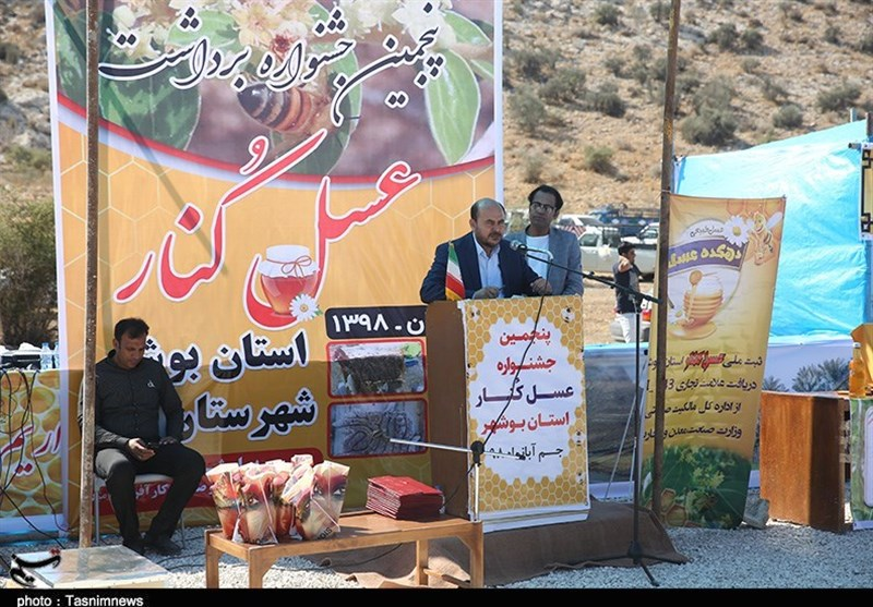برگزاری پنجمین جشنواره برداشت عسل کنار در شهرستان جم