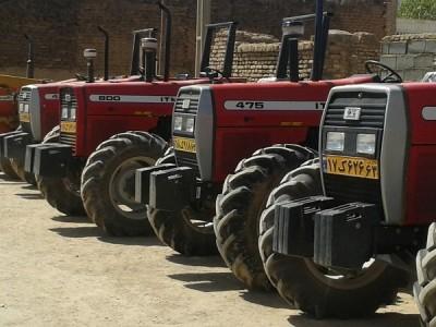 پلاک گذاری ماشین آلات کشاورزی در شهرستان کنگان